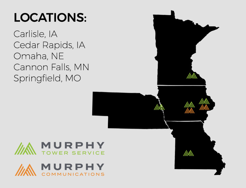 Murphy Tower and Communications Locations Map